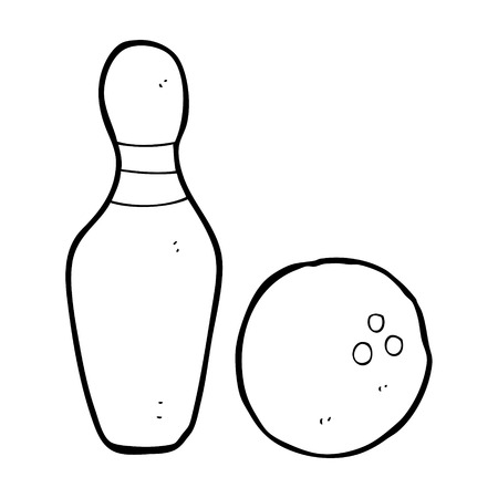 ten pin bowling: ten pin bowling cartoon