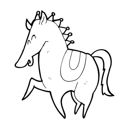cartoon prancing horse Vector