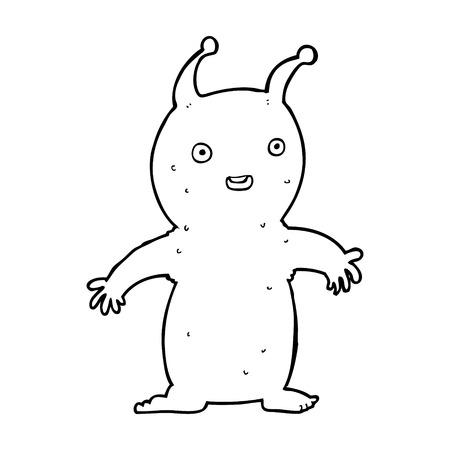 cartoon happy little alien Stock Vector - 25008983