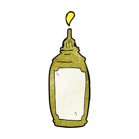 mustard: cartoon mustard bottle
