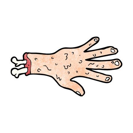 grosse: bande dessin�e brut de main coup�e