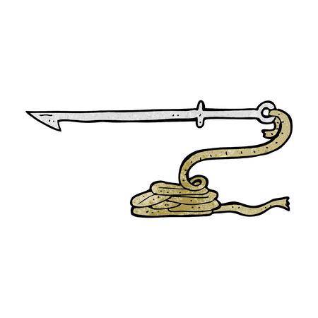 cartoon harpoon Illustration