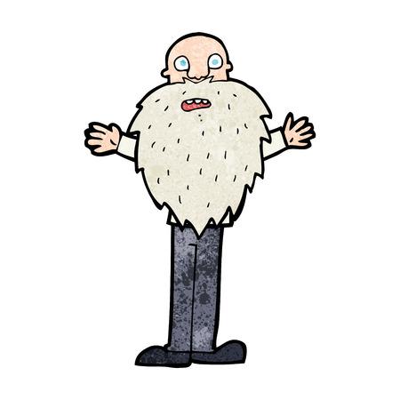 bearded: cartoon bearded old man