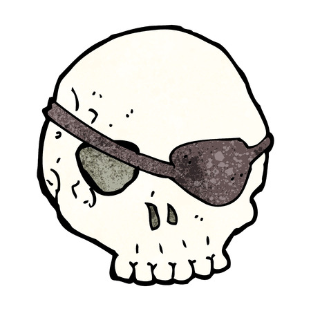 eye patch: cartoon skull with eye patch