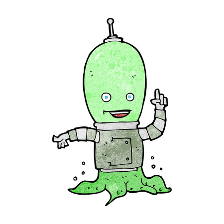 cartoon alien: dibujos animados astronauta extranjero