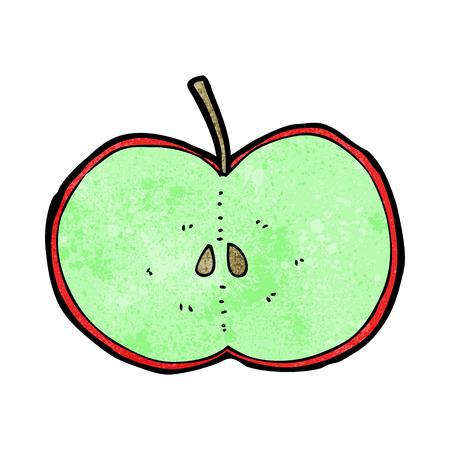 sliced apple: cartoon sliced apple