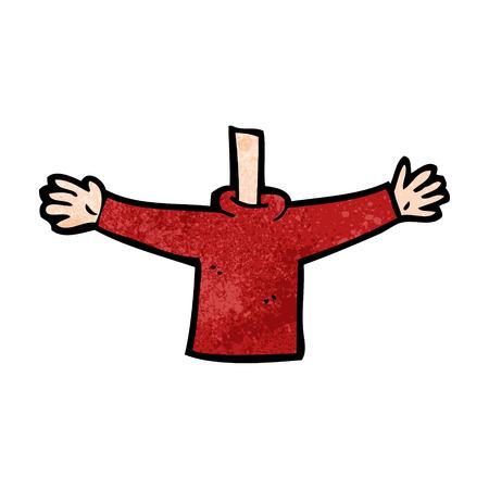 quirky: cartoon body waving arms