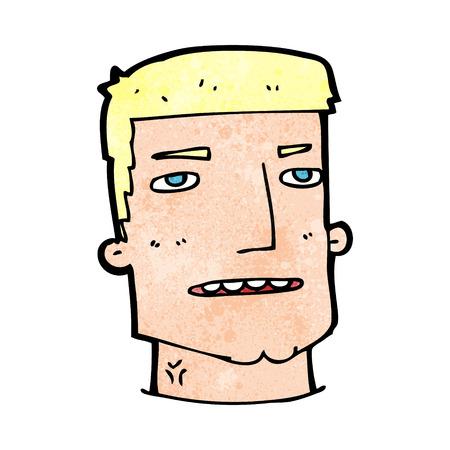 quirky: cartoon male head