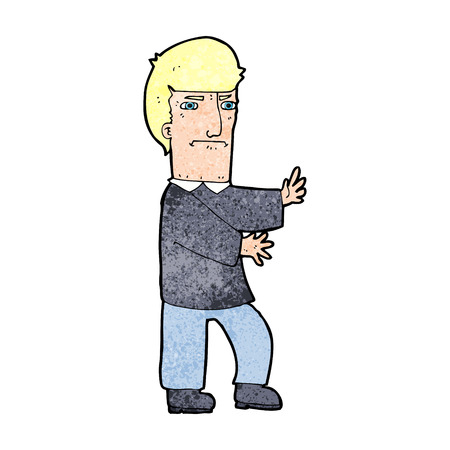 grumpy: cartoon grumpy man