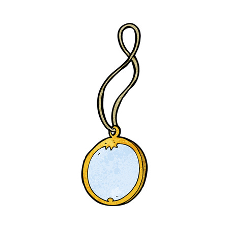 pendant: cartoon pendant necklace Illustration