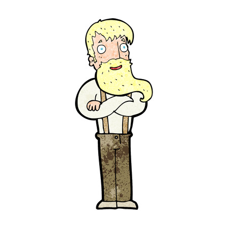 bearded: cartoon bearded hipster man