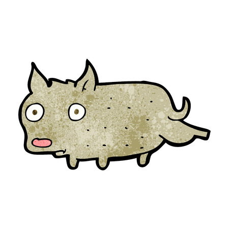 cocking: cartoon little dog lifting leg Illustration