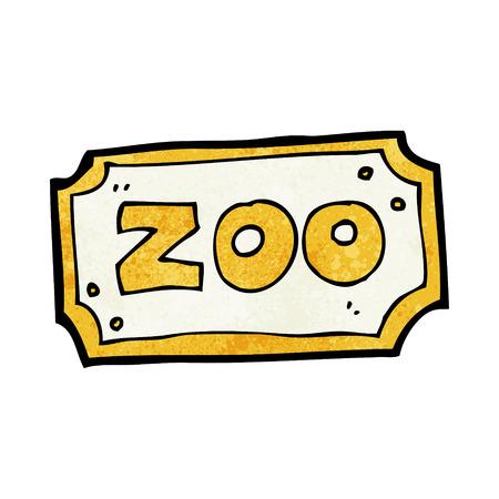 zoologico caricatura: signo zool�gico de dibujos animados Vectores