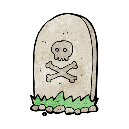 cartoon grave Illustration