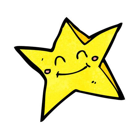 crazy cartoon: cartoon happy star character
