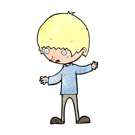 outstretched: cartoon boy with outstretched arms