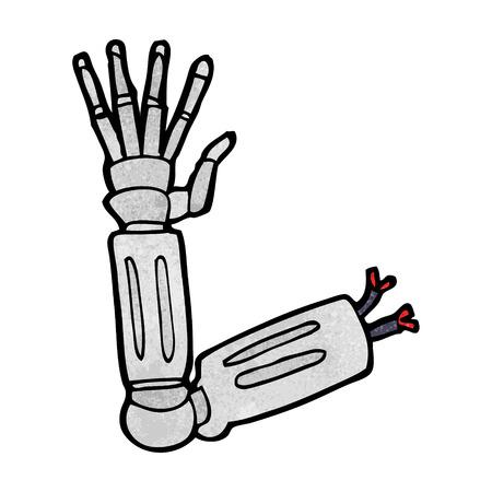 bras robot: bras de robot de bande dessin�e Illustration