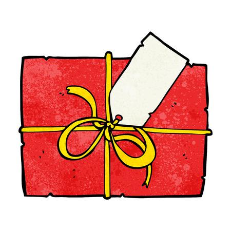 cartoon wrapped present