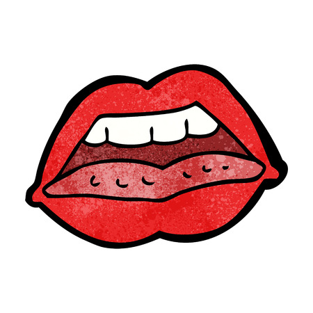 sexy lips: cartoon sexy lips symbol