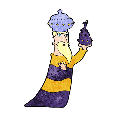 wise men: one of the three wise men Illustration