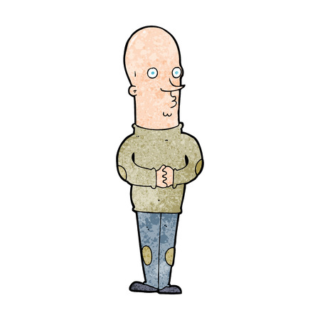 cartoon funny bald man Vector
