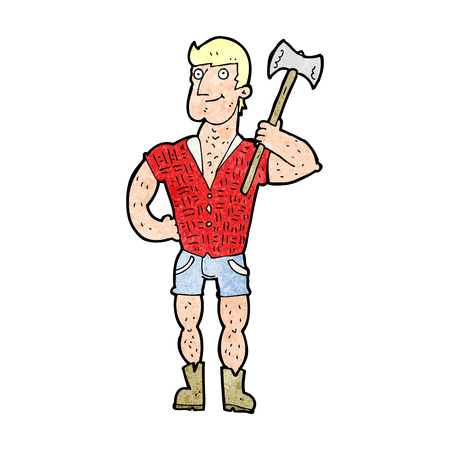 woodsman: cartoon lumberjack