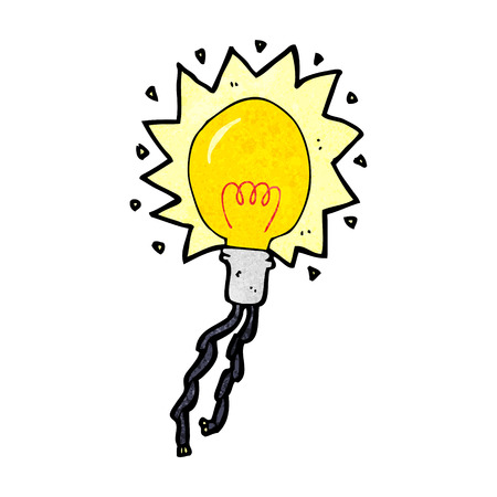 electric bulb: cartoon electric light bulb Illustration