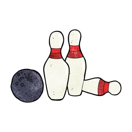 skittles: cartoon bowling ball and skittles