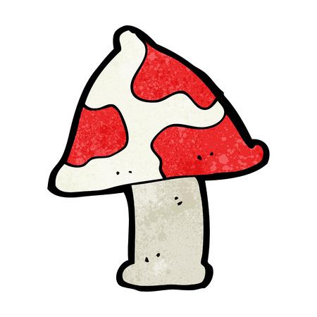 a toadstool: cartoon toadstool Illustration