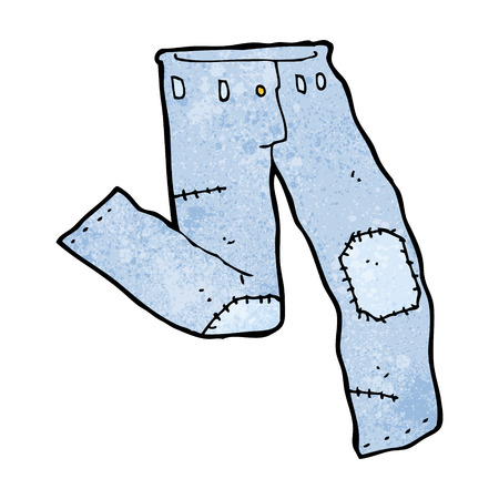 patched: cartoon patched old jeans