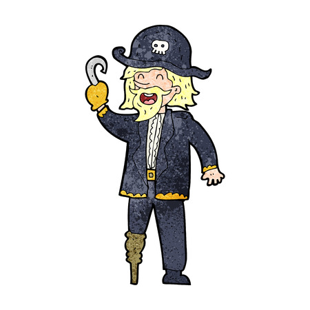 cartoon pirate captain Vector