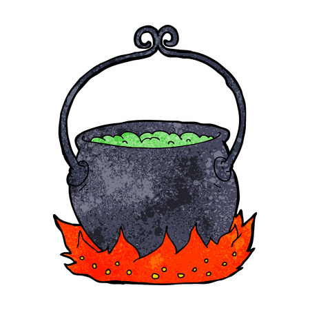 cartoon witchs cauldron Vector