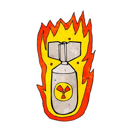 cartoon flaming bomb Stock Vector - 25613964