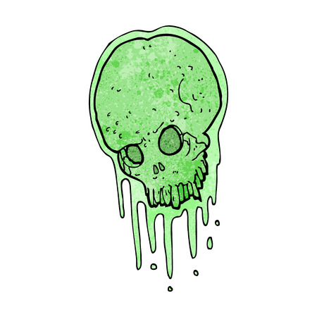 slimy: cartoon slimy skull