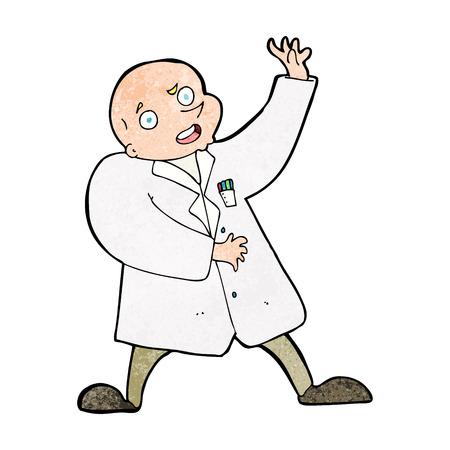 cartoon mad scientist Vector