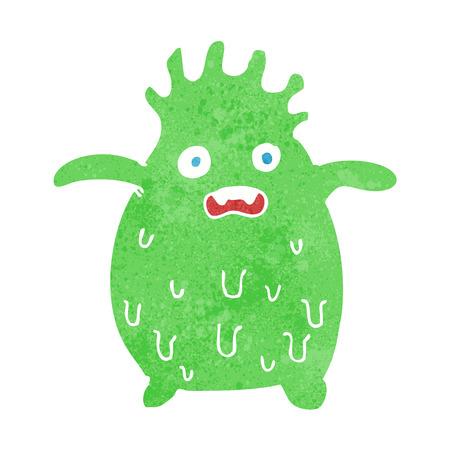 slime: cartoon funny slime monster Illustration