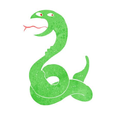 hissing: cartone animato sibilo di serpente Vettoriali