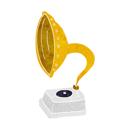 phonograph: cartoon phonograph Illustration