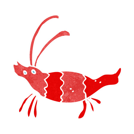 cartoon shrimp Vector