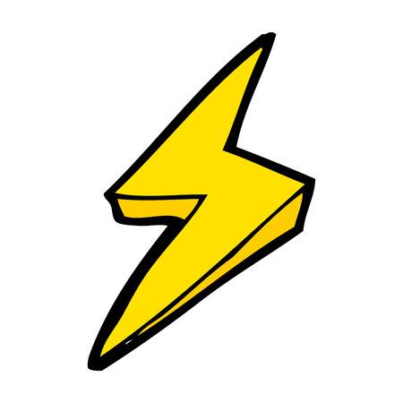 cartoon lightning bolt symbol Illustration
