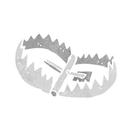 TRAP: cartoon bear trap Illustration
