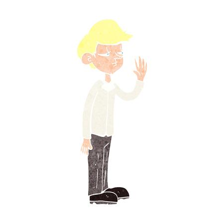 arrogant: cartoon arrogant boy