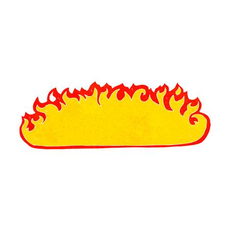 cartoon fire: cartoon fire border