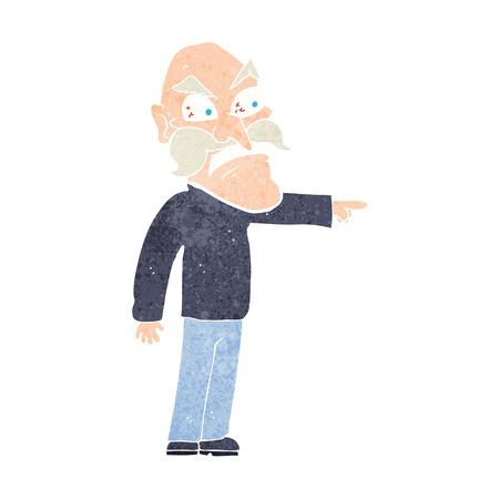 furious: cartoon furious old man Illustration