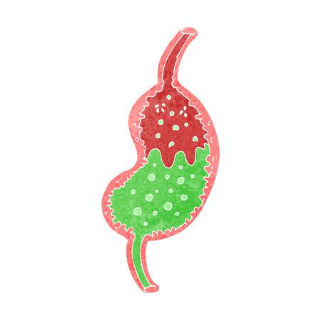 cartoon bubbling stomach Stock Vector - 26076220