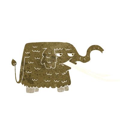 woolly: cartoon woolly mammoth Illustration