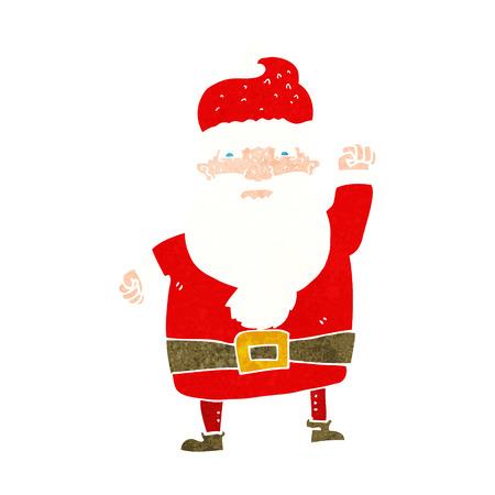 cartoon angry santa claus Vector