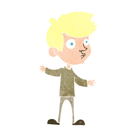 meraklı: cartoon curious boy