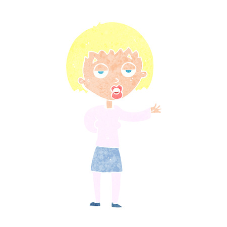 cartoon bored woman Vector