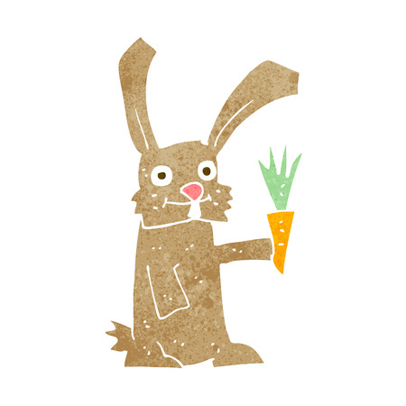 bunny rabbit: cartoon rabbit with carrot